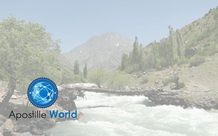 Apostille Document Services, Tajikistan